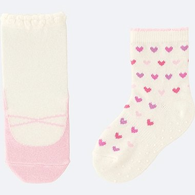 BABY SOCKS 2P, PINK, medium