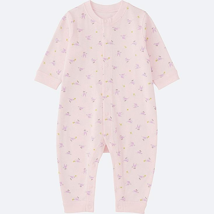 BABY LONG SLEEVE ONE PIECE OUTFIT, PINK, large