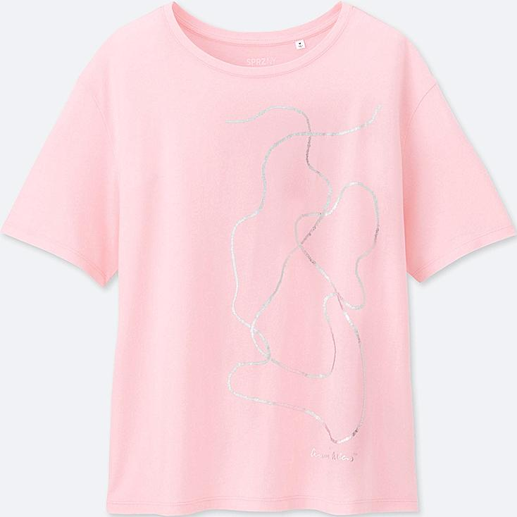 WOMEN SPRZ NY  SHORT-SLEEVE GRAPHIC T-SHIRT (Anni Albers), PINK, large
