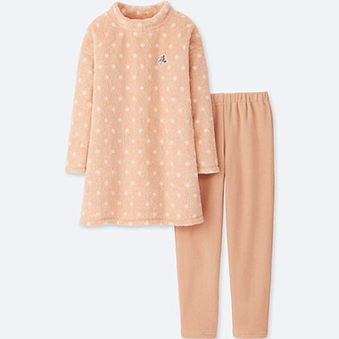 GIRLS DISNEY COLLECTION FLEECE LONG SLEEVE LOUNGE SET
