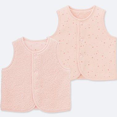 BABIES NEWBORN FLUFFY YARN REVERSIBLE VEST