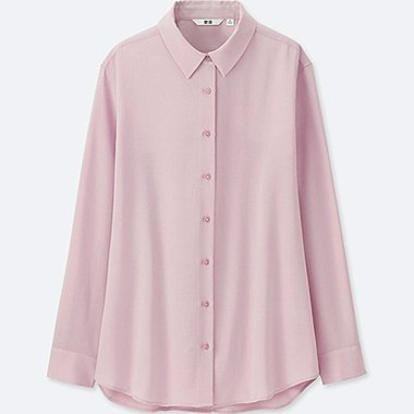 WOMEN SILK TOUCH easycare LONG SLEEVE BLOUSE
