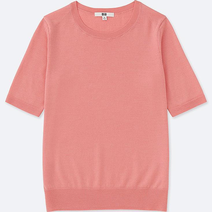 Jersey Cuello Redondo de lana extra fina de merino MUJER