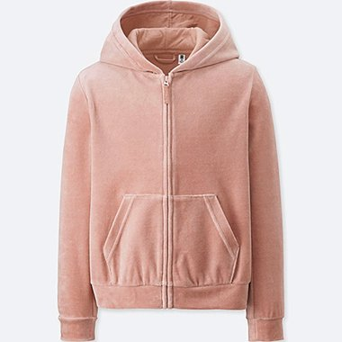 GIRLS VELOUR LONG SLEEVE PARKA