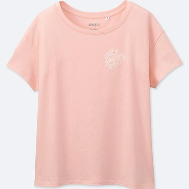 WOMEN SPRZ NY SHORT-SLEEVE GRAPHIC T-SHIRT (Keith Haring), PINK, medium