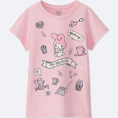 GIRLS SANRIO SHORT-SLEEVE GRAPHIC T-SHIRT, PINK, medium