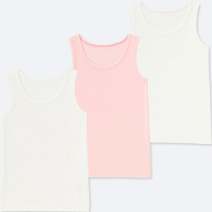 BABIES TODDLER COTTON INNER VEST TOP (THREE PACK)