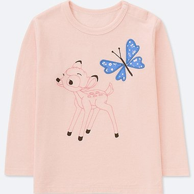BABIES TODDLER DISNEY TEXTILE COLLECTION CREW NECK LONG SLEEVE T-SHIRT
