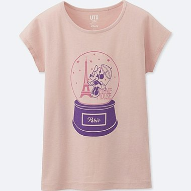 GIRLS MICKEY TRAVELS SHORT-SLEEVE GRAPHIC T-SHIRT, PINK, medium