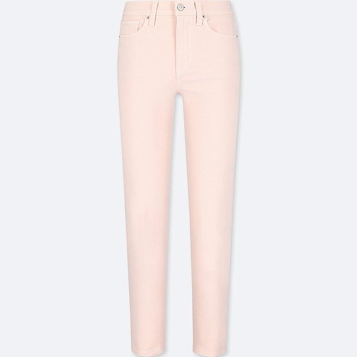WOMEN HIGH RISE CIGARETTE JEANS, PINK, large