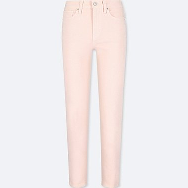 WOMEN HIGH-RISE CIGARETTE JEANS, PINK, medium