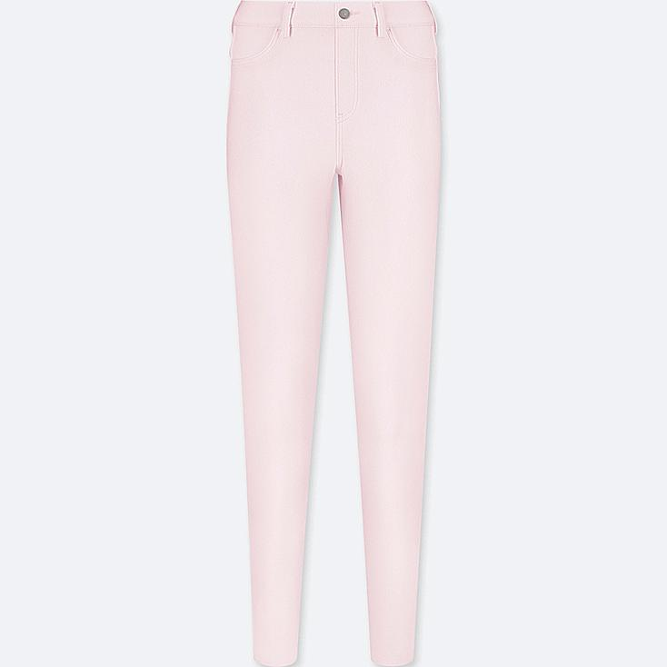 WOMEN LEGGINGS PANTS, PINK, large