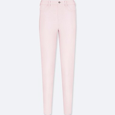 WOMEN LEGGINGS PANTS, PINK, medium