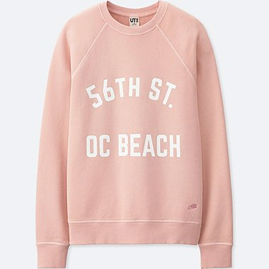 WOMEN CALIFORNIA MEMORIES LONG-SLEEVE SWEATSHIRT, PINK, medium