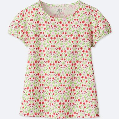 GIRLS STUDIO SANDERSON FOR UNIQLO SHORT-SLEEVE GRAPHIC T-SHIRT, PINK, medium