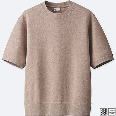 MEN U SHORT-SLEEVE SWEATSHIRT, PINK, medium