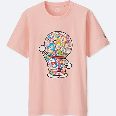 DORAEMON X TAKASHI MURAKAMI SHORT-SLEEVE GRAPHIC T-SHIRT, PINK, medium