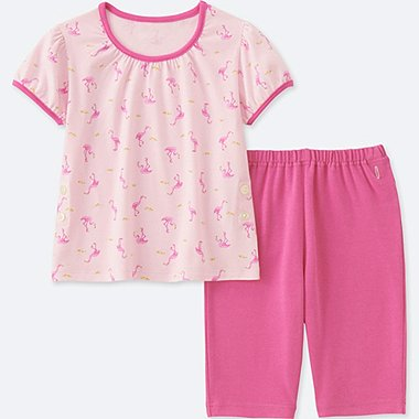 TODDLER DRY SHORT-SLEEVE PAJAMAS, PINK, medium