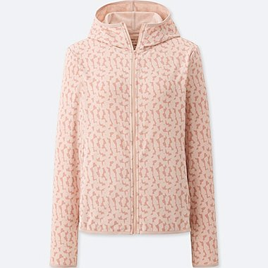 WOMEN SPRZ NY DRY-EX LONG-SLEEVE FULL-ZIP HOODIE (FRANCOIS MORELLET), PINK, medium