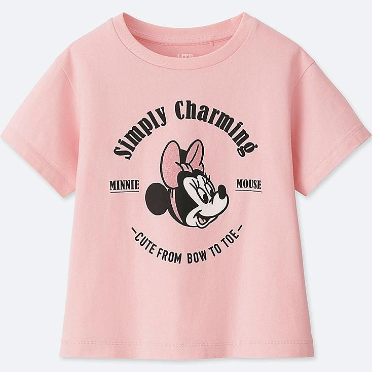 GIRLS MINNIE MOUSE BEST FRIENDS FOREVER SHORT-SLEEVE GRAPHIC T-SHIRT, PINK, large