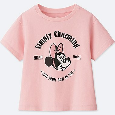 GIRLS MINNIE MOUSE BEST FRIENDS FOREVER SHORT-SLEEVE GRAPHIC T-SHIRT, PINK, medium