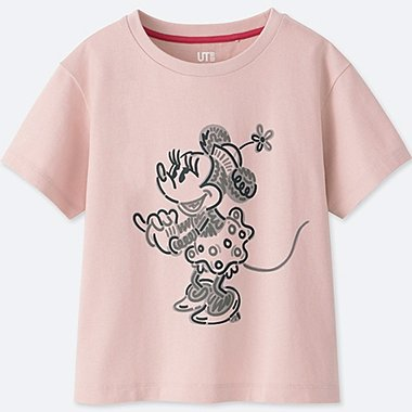 KIDS LOVE & MICKEY MOUSE COLLECTION GRAPHIC T-SHIRT, PINK, medium