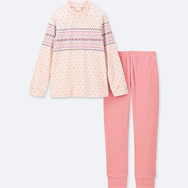 GIRLS FLEECE LONG SLEEVE LOUNGE SET