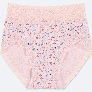 WOMEN HIGH-RISE FLORAL-PRINT BRIEFS, PINK, medium
