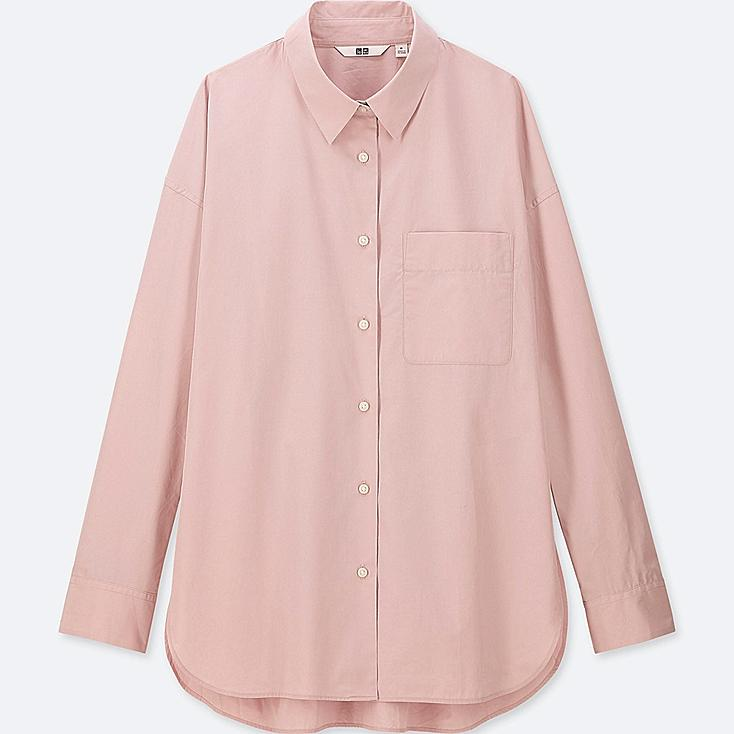 WOMEN EXTRA FINE COTTON LONG-SLEEVE SHIRT | Tuggl