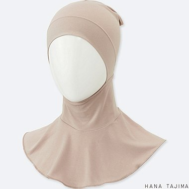 WOMEN HPJ AIRism INNER HIJAB, PINK, medium