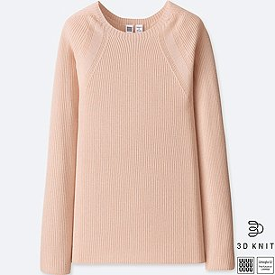WOMEN U 3D EXTRA FINE MERINO RIBBED SWEATER/us/en/women-u-3d-extra-fine-merino-ribbed-sweater-413461.html