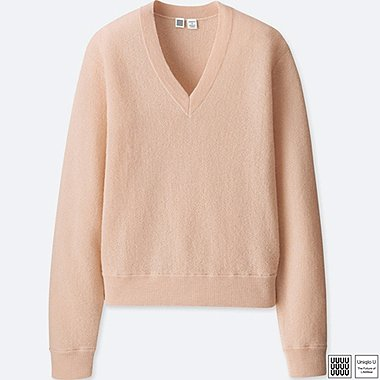 WOMEN UNIQLO U WOOL V NECK SWEATER