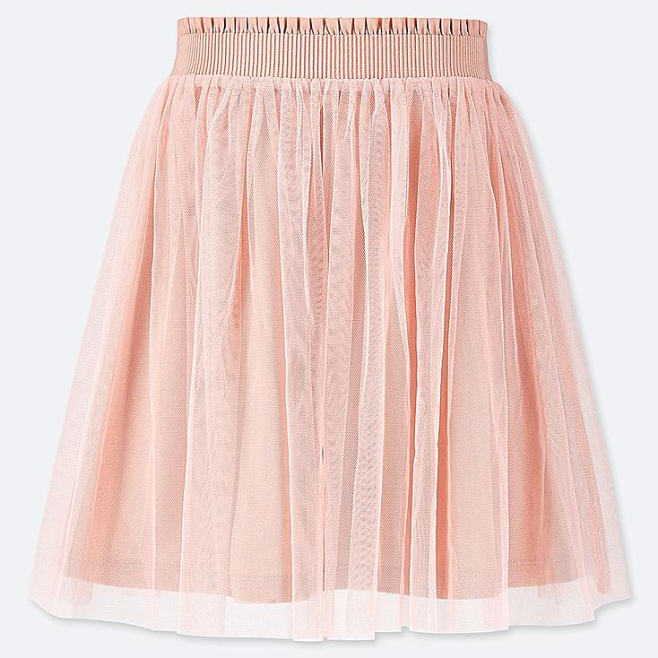 GIRLS TULLE SKIRT, PINK, large
