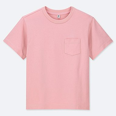 KIDS CREW NECK WASHED SHORT SLEEVE T-SHIRT