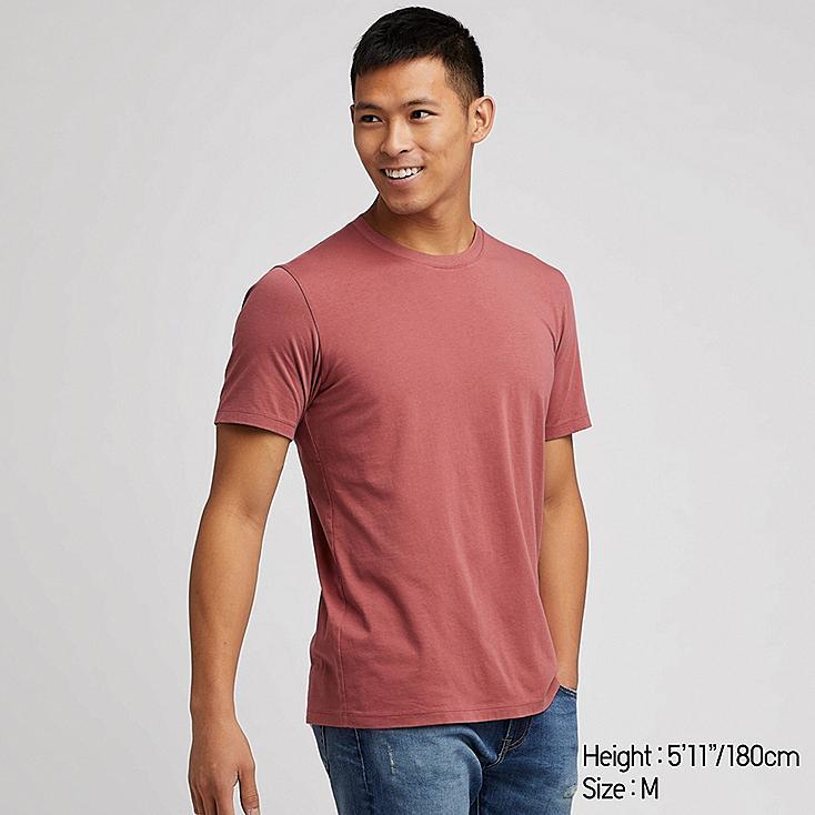 MEN SUPIMA® COTTON CREW NECK SHORT-SLEEVE T-SHIRT, PINK, large