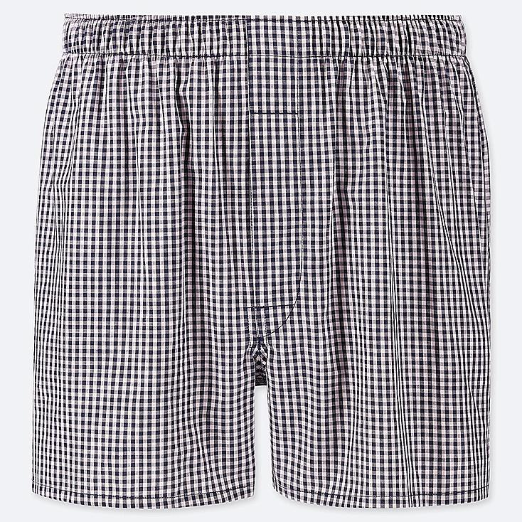 MEN WOVEN CHECKED BOXERS, PINK, large