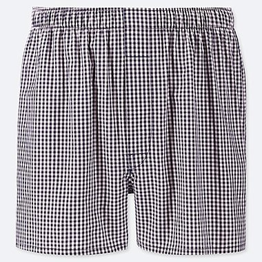 MEN WOVEN GINGHAM CHECKED TRUNKS