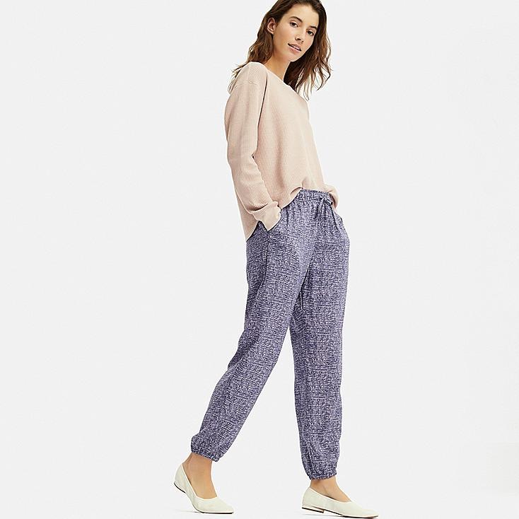 WOMEN DRAPE JOGGER PANTS, PINK, large