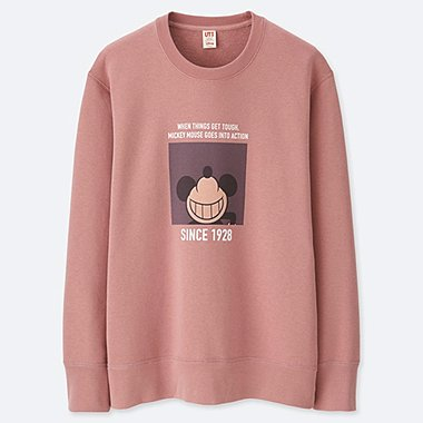 MEN CELEBRATE MICKEY GRAPHIC SWEATSHIRT, PINK, medium