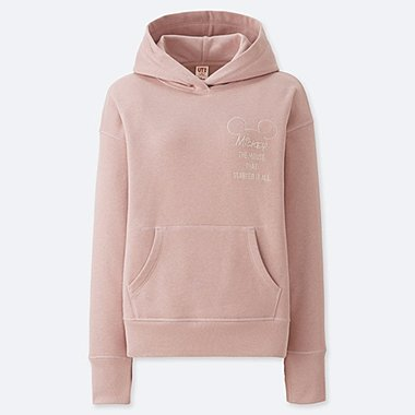 WOMEN CELEBRATE MICKEY GRAPHIC HOODED SWEATSHIRT, PINK, medium