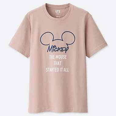 MEN CELEBRATE MICKEY SHORT-SLEEVE GRAPHIC T-SHIRT, PINK, medium