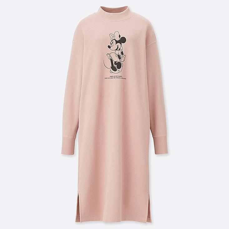 WOMEN CELEBRATE MICKEY SWEAT DRESS, PINK, large