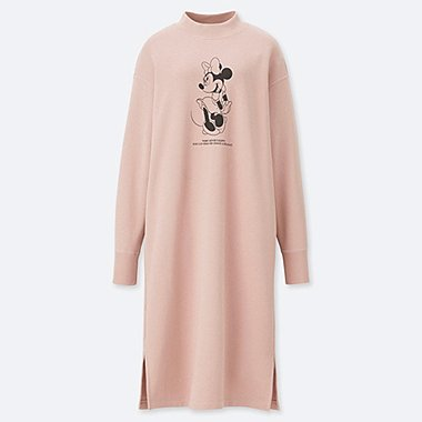 WOMEN CELEBRATE MICKEY SWEAT DRESS, PINK, medium