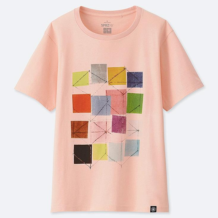WOMEN SPRZ NY SHORT-SLEEVE GRAPHIC T-SHIRT (EAMES), PINK, large