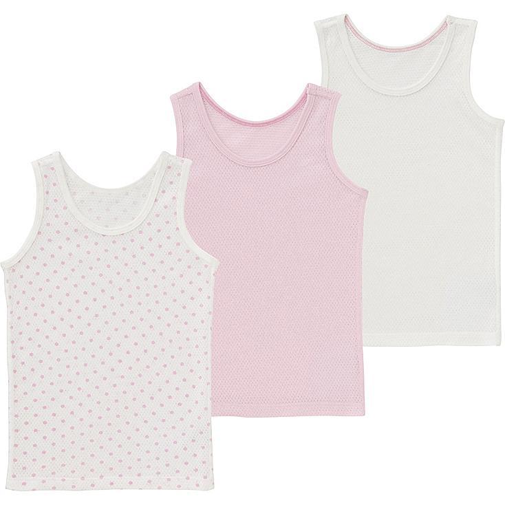 Toddler Mesh Tank Top Undershirt, 3 Pack, PINK, large
