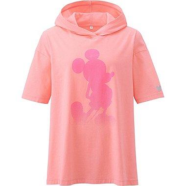 Womens Disney Project Pullover Hoodie, PINK, medium