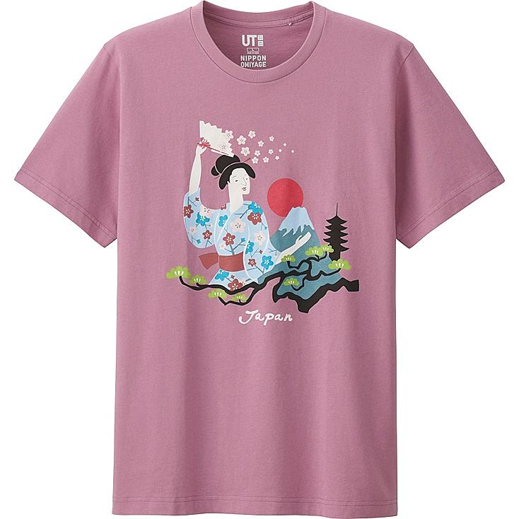 OMIYAGE SHORT SLEEVE GRAPHIC T-SHIRT, PINK, large