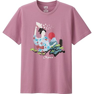 OMIYAGE SHORT SLEEVE GRAPHIC T-SHIRT, PINK, medium