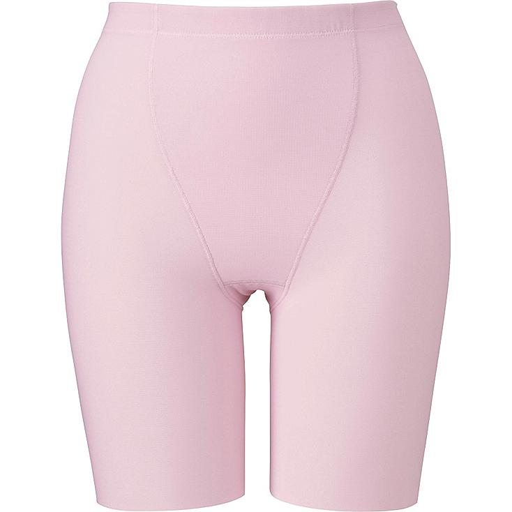 WOMEN BODY SHAPER NON-LINED HALF SHORTS, PINK, large