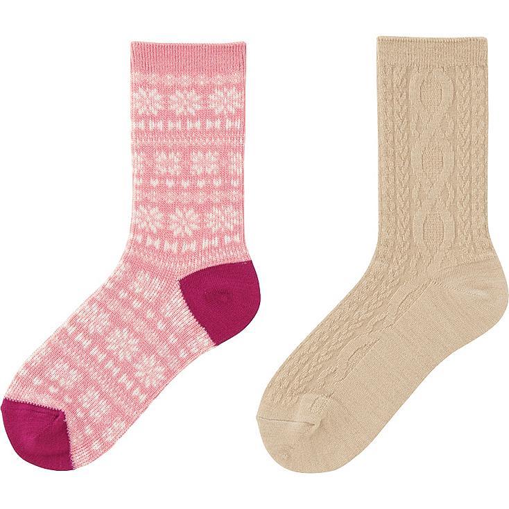 HEATTECH MÄDCHEN Socken 2 Paar